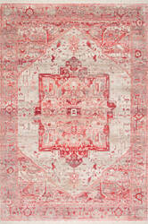 Famous Maker Ehtel Medallion Red Area Rug