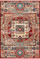 Famous Maker Idina Medallion Red Area Rug
