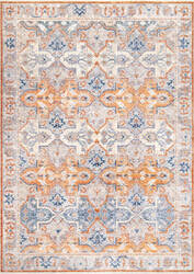 Famous Maker Vintage Elle Orange Area Rug