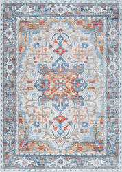 Nuloom Persian Medallion Caterina Grey Area Rug