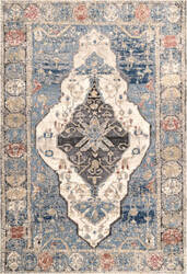 Famous Maker Transitional Adrian Blue Area Rug