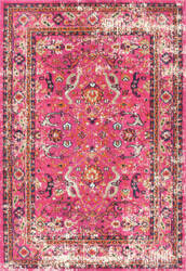 Nuloom Distressed Floral Anabel Pink Area Rug