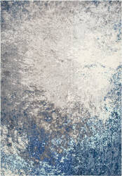 Famous Maker Donya Abstract Blue Area Rug