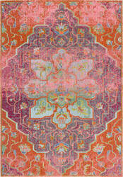 Nuloom Santos Floral Medallion Orange Area Rug