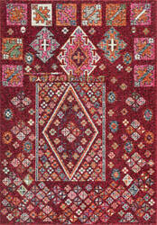 Nuloom Tyesha Tribal Diamonds Red Area Rug
