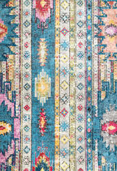 Famous Maker Bohemian Jennifer Blue Area Rug