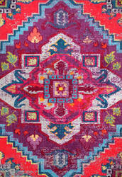 Famous Maker Bohemian Abby Purple Area Rug