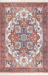 Famous Maker Hand Woven Werner Rust Area Rug