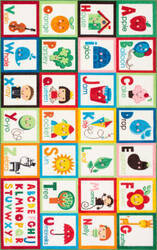 Famous Maker Alphabet Block Multi Area Rug