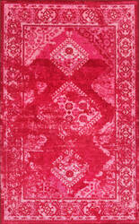 Nuloom Lavonna Distressed Tribal Pink Area Rug