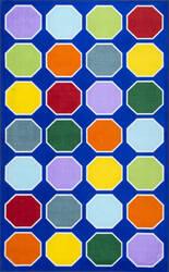 Nuloom Kecia Octagons Printed Blue Area Rug