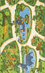 Nuloom Galen Zoo Animals Green Area Rug