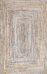 Famous Maker Hand Braided Eliz Blue Area Rug