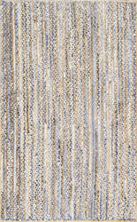 Nuloom Hand Braided Striped Dara Blue Area Rug