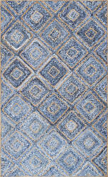 Nuloom Hand Braided Diamonds Rima Blue Area Rug
