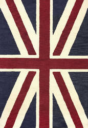 Nuloom Hand Tufted Union Jack Denim Area Rug