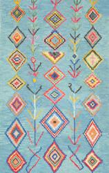 Nuloom Hand Tufted Belini Turquoise Area Rug