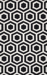 Nuloom Hand Tufted Honeycomb Mayra Black Area Rug