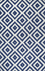 Famous Maker Hand Tufted Kellee Navy Area Rug