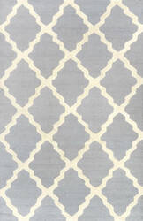 Nuloom Hand Hooked Marrakech Trellis Spa Blue Area Rug
