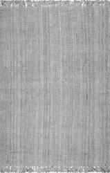 Nuloom Hand Woven Chunky Loop Grey Area Rug
