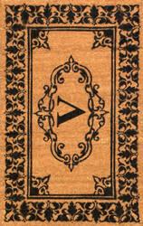 Nuloom Letter V Doormat Letter V Area Rug