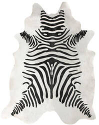 Nuloom Handmade Striped Cowhide White Area Rug
