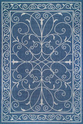 Nuloom Kathleen Outdoor Blue Area Rug