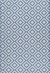 Nuloom Marybelle Tribal Diamond Blue Area Rug