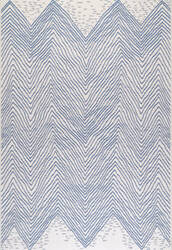 Nuloom Wavy Chevron Outdoor Blue Area Rug