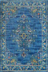 Nuloom Vintage Tamesha Medallion Blue Area Rug