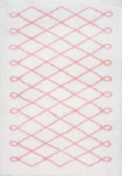 Famous Maker Stasia Shag Baby Pink Area Rug