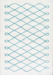 Nuloom Stasia Diamond Shag Baby Blue Area Rug