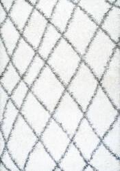 Nuloom Luna Trellis Shag White Area Rug