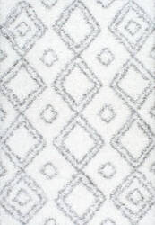 Nuloom Iola Easy Shag White Area Rug
