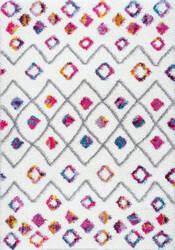 Nuloom Tatyana Moroccan Diamond Pink Area Rug