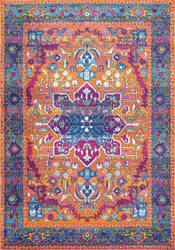 Nuloom Persian Fancy Medallion Velva Orange Area Rug