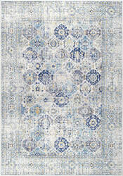 Nuloom Dupuis Faded Trellis Blue Area Rug