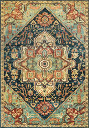 Nuloom Tribal Medallion Tabetha Green Area Rug