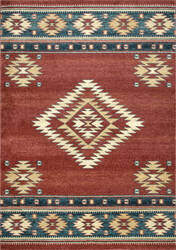 Nuloom Tribal Diamond Margene Red Area Rug