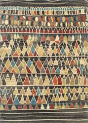 Nuloom Darell Mosaic Shaggy Dark Brown Area Rug