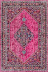 Nuloom Vintage Medallion Dortha Pink Area Rug