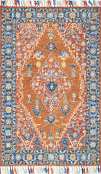 Nuloom Sharyl Tropical Floret Rust Area Rug