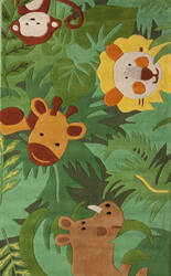Nuloom Hand Tufted King Of The Jungle Green Area Rug