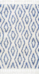Nuloom Hand Knotted Soukey Blue Area Rug