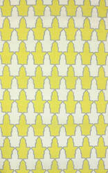 Nuloom Flat Woven Trina Yellow Area Rug