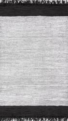 Nuloom Handmade Otha Tassel Silver Area Rug