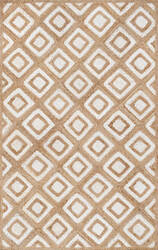 Nuloom Rosalva Diamonds Jute Bleached Denim Area Rug
