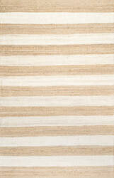 Nuloom Flatweave Alisia Stripes Bleached Denim Area Rug