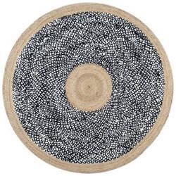 Famous Maker Lesha Natural Fiber Black Area Rug